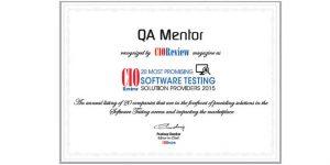 QA mentor recognized